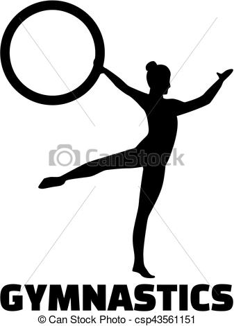 337x470 Woman Exercise Gymnastics With Hoop Clipart Vector