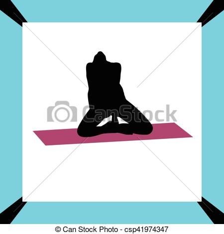 450x470 Yoga Exercise Silhouette Eps Vector