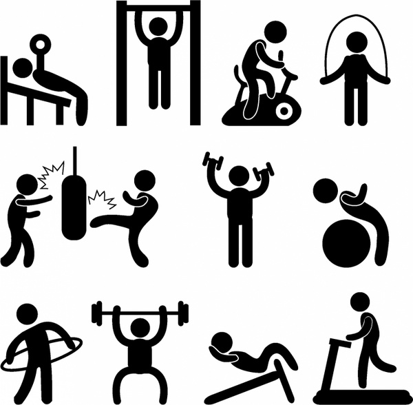 600x588 Athletic Gym Gymnasium Exercise Free Vector In Adobe Illustrator