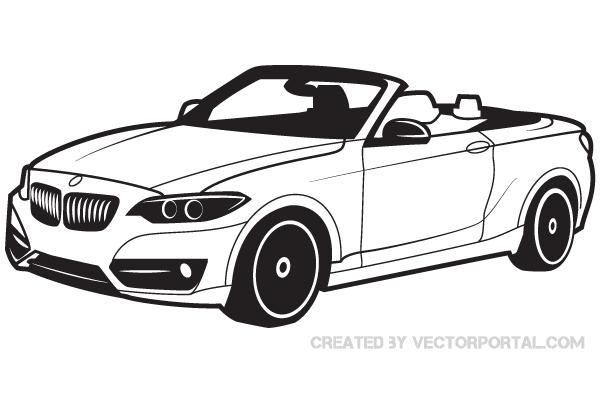 600x400 Bmw Car Vector Art 123freevectors