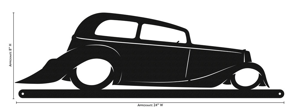 1000x370 Made Exotic Hotrod Hot Rod Simple Silhouette New