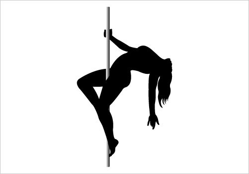 501x351 Pole Dancing Silhouette Graphics Silhouette Graphics