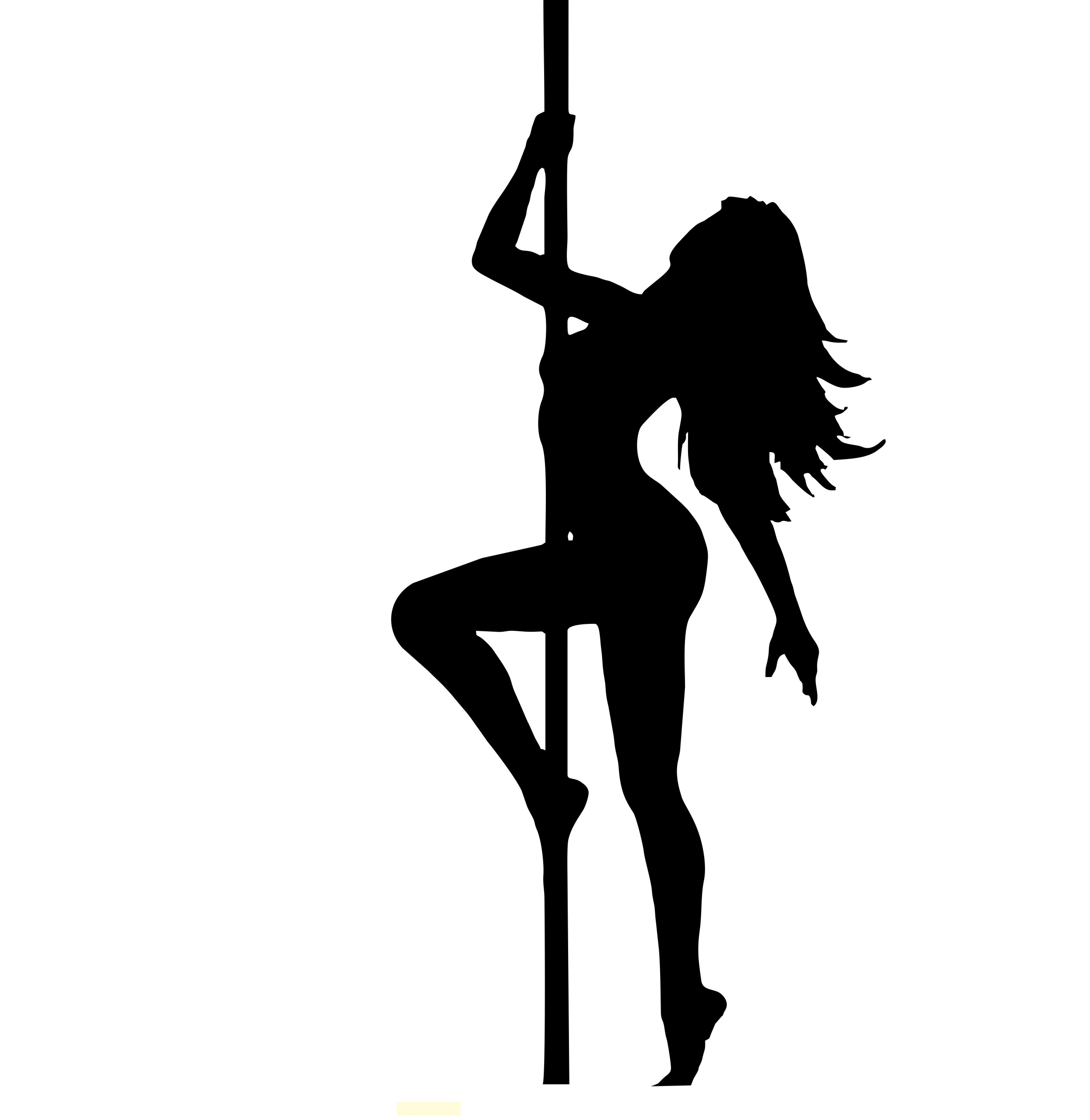2500x2569 Pole Dancer Silhouette
