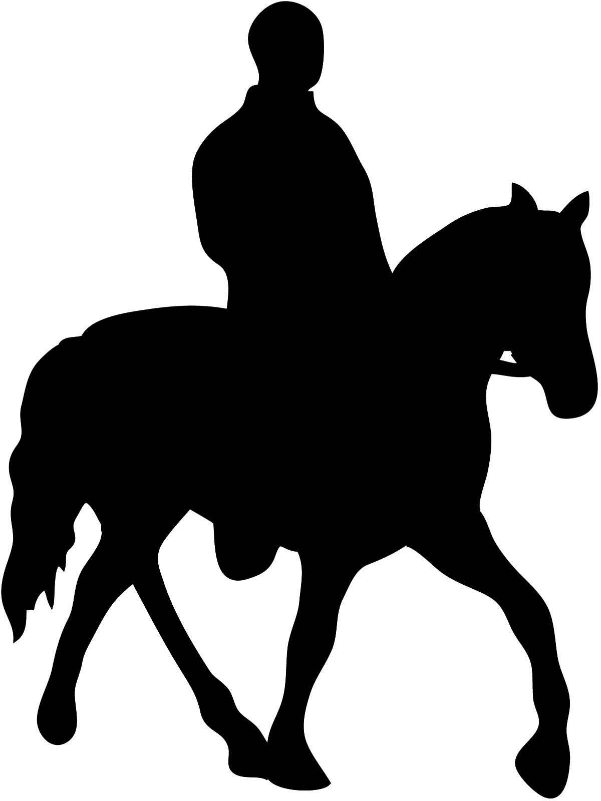 1200x1600 Silhouette Of Horse And Horseman Silhouette For Quilting