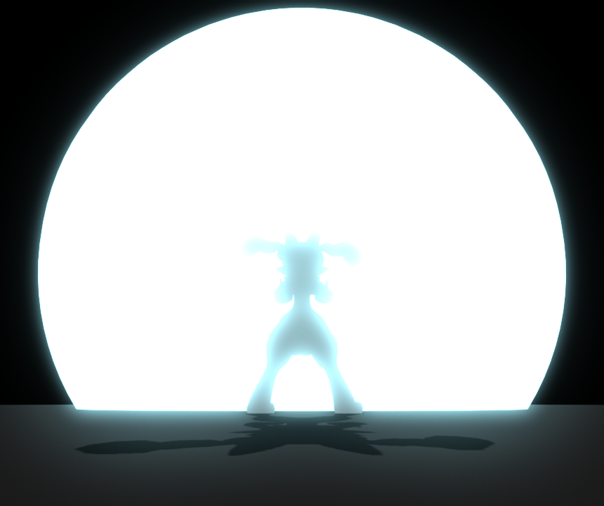 860x720 3d Test Anime Explosion And Character Silhouette By