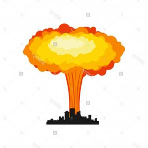 300x300 Nuclear Explosion Silhouette Concept Vector Geekchicpro