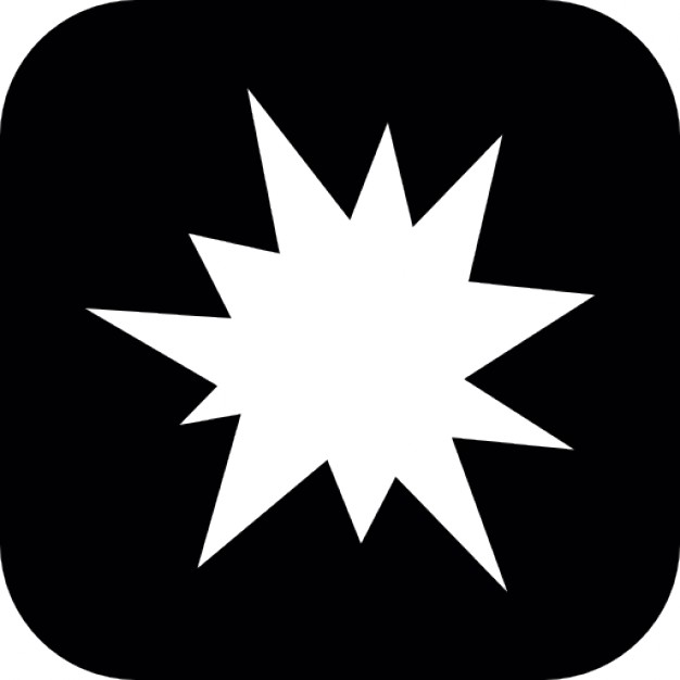 626x626 Star Of Irregular Shape Of An Explosion In A Rounded Square Icons