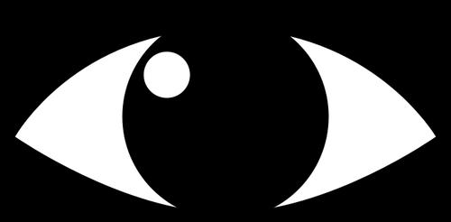 500x246 Eye Silhouette Public Domain Vectors