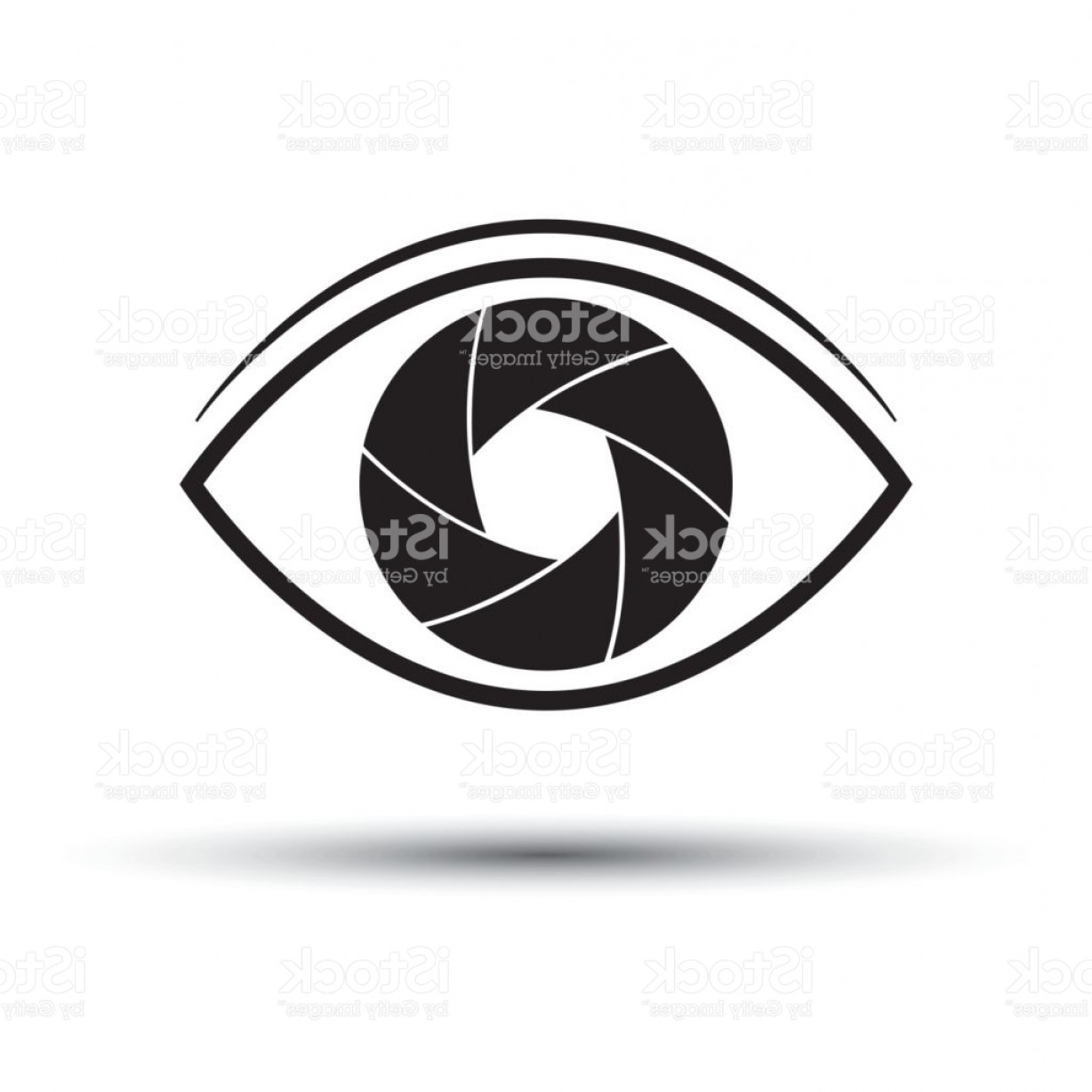 1228x1228 Camera Lens Icon Flat Eye Camera On White Background Silhouette