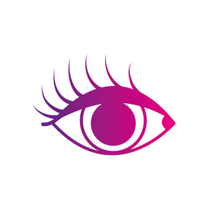 300x300 Color Silhouette Vision Eye With Eyelashes Style Design Vector