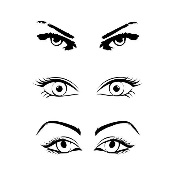 570x570 Eye Bundle Png Svg Cut Files For Silhouette Cricut Cuttable Svg
