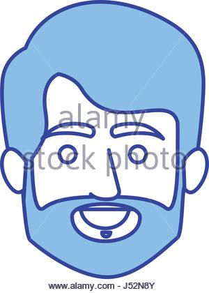 300x420 Silhouette Old Man Face With Hairstyle Stock Vector Art