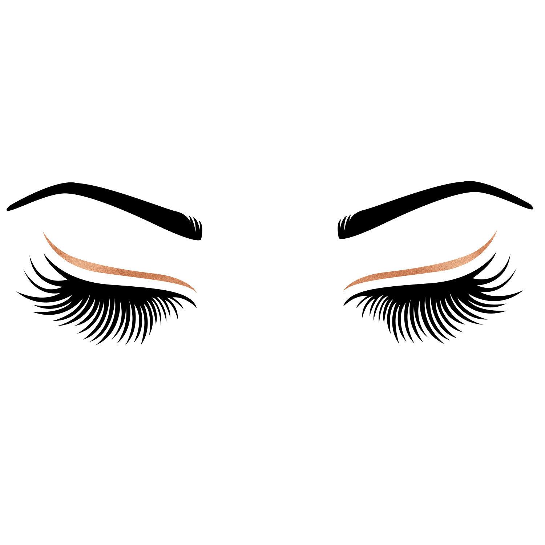 1500x1500 Svg Eyelashes Eyebrows Bundle Cut File Modern Anastasia