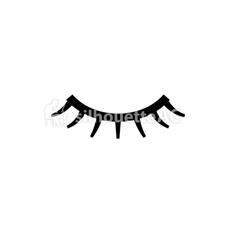750x750 Free Silhouette Vector False Eyelash