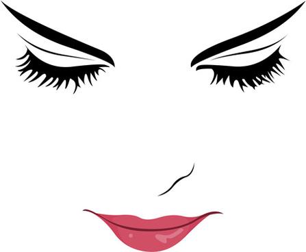 eyelash silhouette at getdrawings  free download