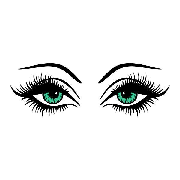600x600 Eye Lashes Cuttable Design Cut File. Vector, Clipart, Digital