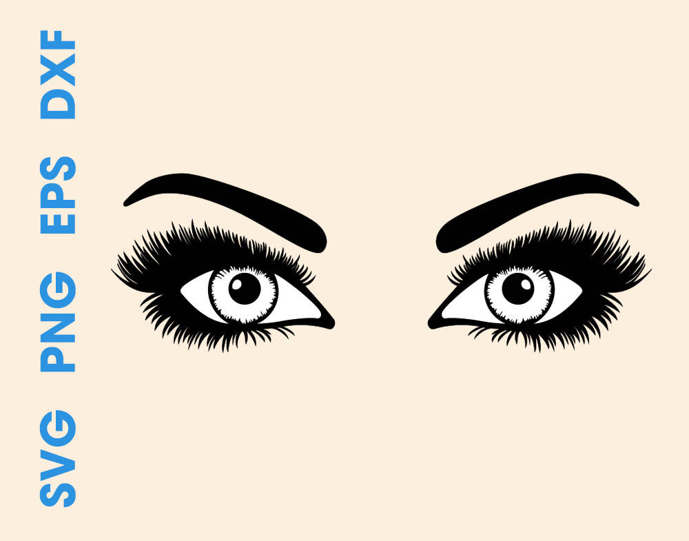 1000x785 Eyes Svg Eyes Silhouette Eyes Svg Designs Eyes With Lashes