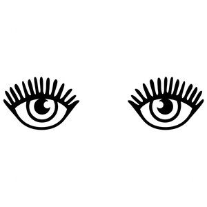 300x300 Pretty Eyes Silhouette Design, Silhouettes And Eye