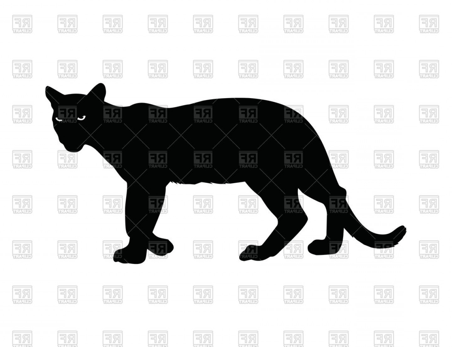 1440x1107 Silhouette Of Panther With Burning Eyes Vector Clipart Createmepink
