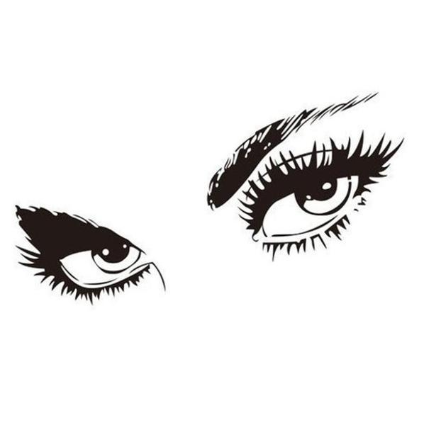 598x600 Audrey Hepburn Style Eyes Silhouette Wall Decals Smarttrendstore