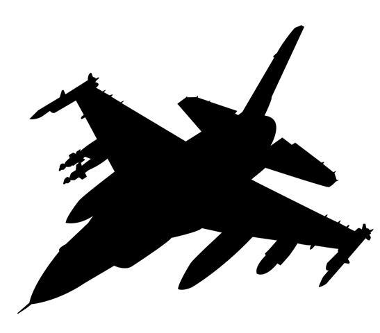 547x480 Fighter Jet Silhouette 9 Decal Sticker