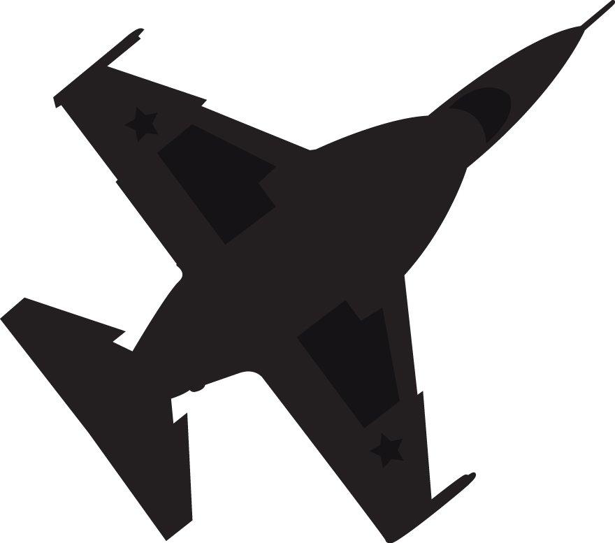 880x777 Wallhogs Haynes Silhouette Jet (F16 Falcon) Viii Cutout Wall Decal