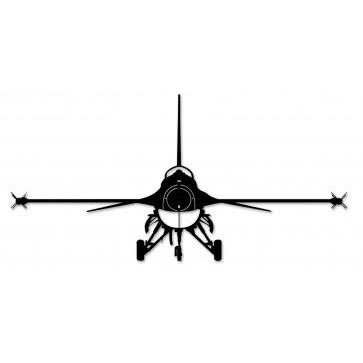 363x363 F 16 Aircraft Silhouette Metal Sign
