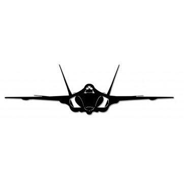 362x362 F 35 Lightning Aircraft Silhouette Metal Sign