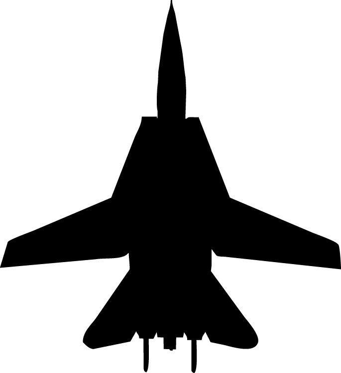 685x750 Haynes Silhouette Jet (F14 Tomcat) Iii Cutout Wall Decal F14