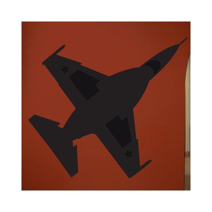700x700 Wallhogs Haynes Silhouette Jet (F16 Falcon) Viii Cutout Wall Decal