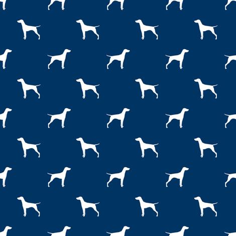 470x470 Vizsla (Smaller) Dog Fabric Silhouette Navy Fabric