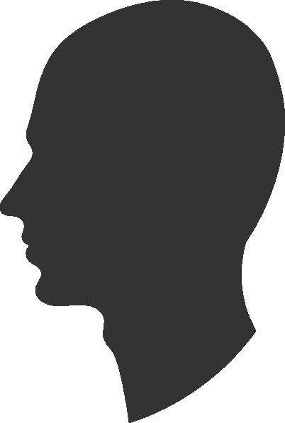 402x597 Head Profile Silhouette Male Clip Art