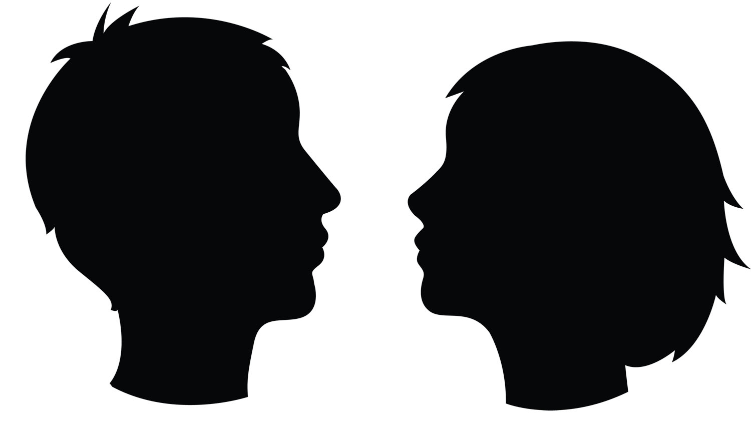 1500x849 Silhouette Of Head Clipart