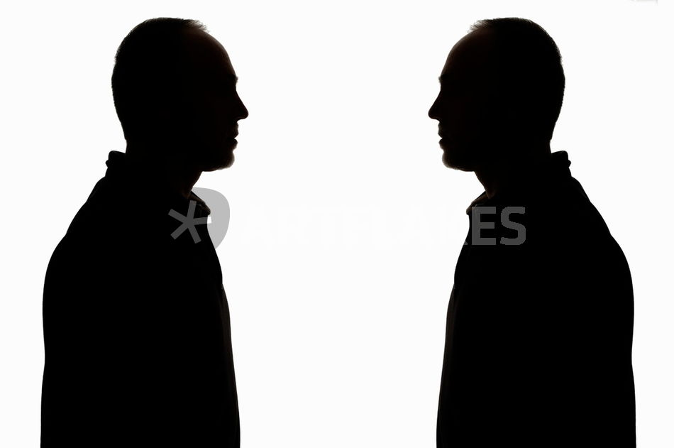 950x631 Silhouette Of Two Men Face To Face Photography Art Prints