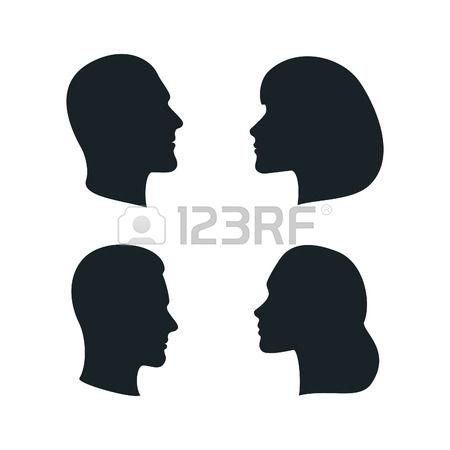 450x450 Clipart Black Side Face Afro Man Silhoutte
