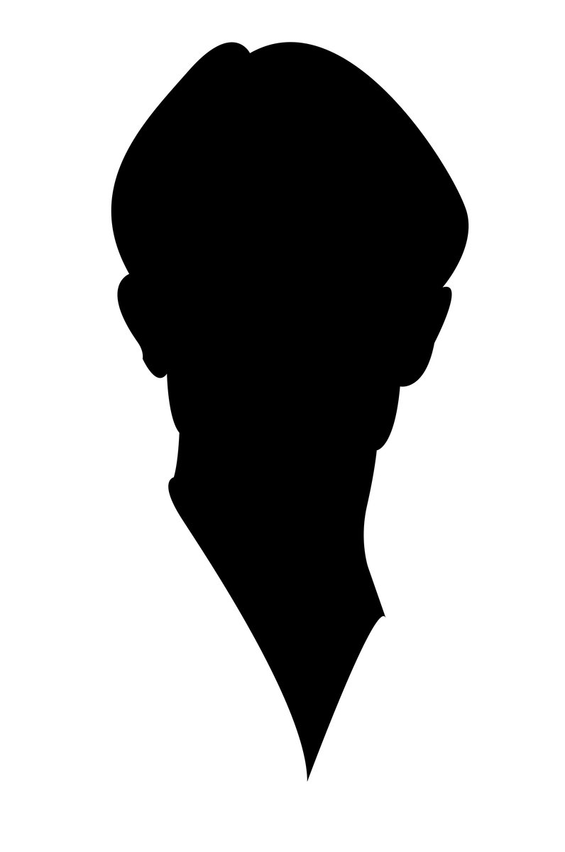796x1200 Free Face Silhouette Stock Photo