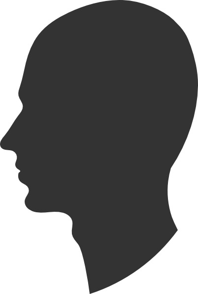 402x597 Head Profile Silhouette Male Clip Art