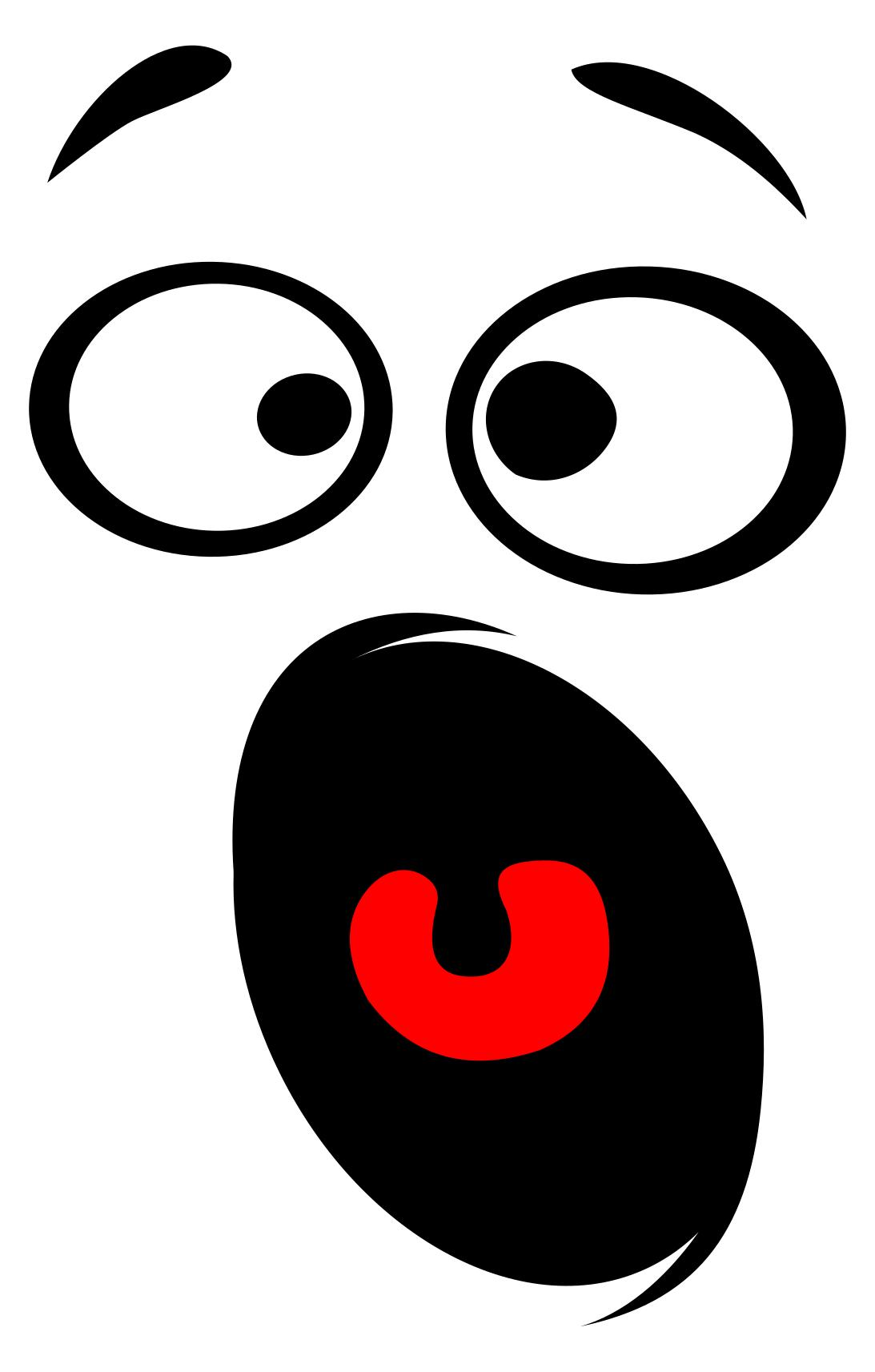 1093x1713 Horrified Smiley Face Silhouette Clipart