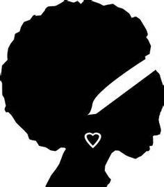 236x269 Face Silhouette Woman Stencil Template
