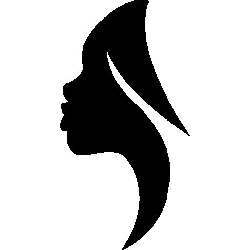 512x512 Side View Woman Silhouette