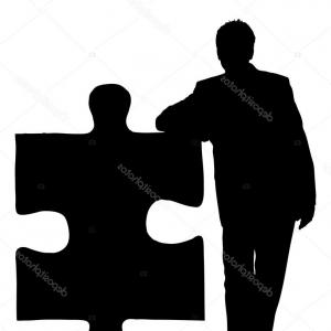 300x300 Stock Photo Head Silhouette Icon With Jigsaw Puzzle Pieces