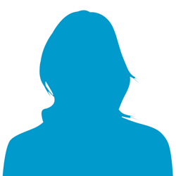 250x250 Victorian Blind Cricket Association Female Silhouette Icon Image
