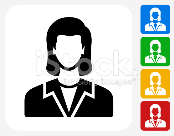 556x437 Woman Face Icon. This 100% Royalty Free Vector Illustration