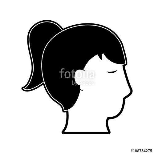 500x500 Woman Head Silhouette Icon Vector Illustration Graphic Design