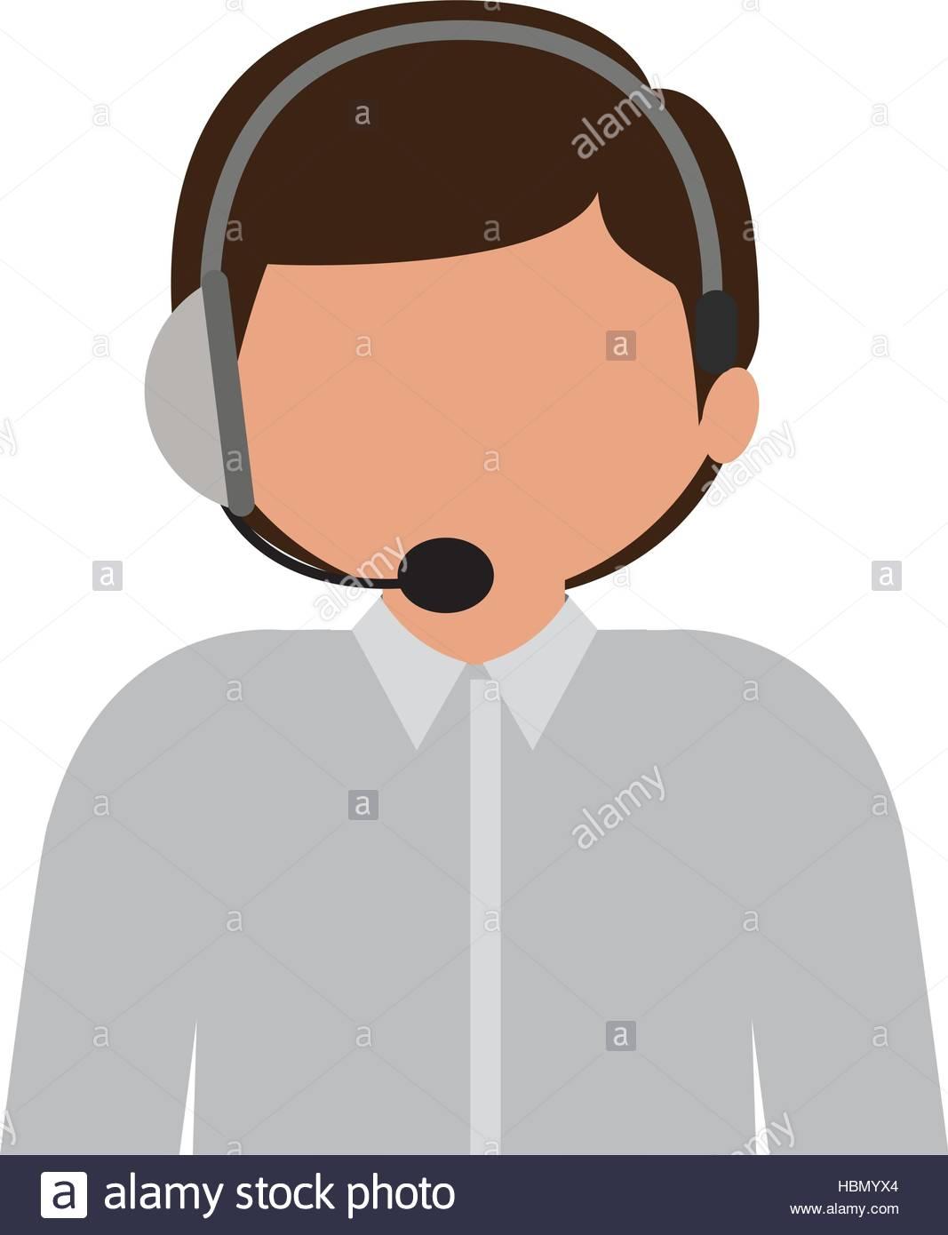 1067x1390 Male Customer Service Silhouette Icon Vector Illustration Stock