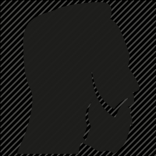 512x512 Avatar, Beard, Face, Head, Man, Profile, Side View Icon Icon