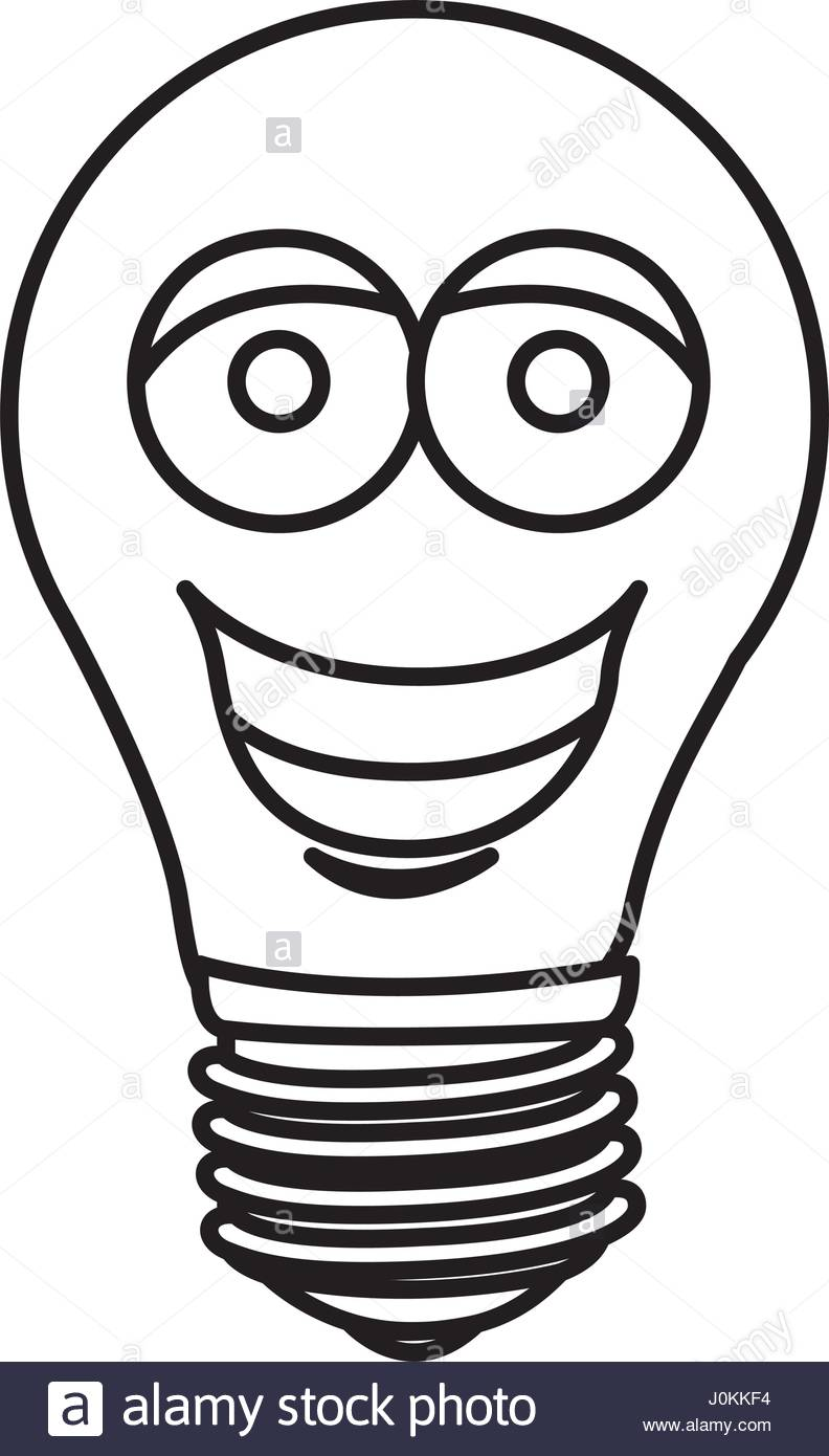 792x1390 Silhouette Of Cartoon Face Light Bulb Icon Stock Vector Art