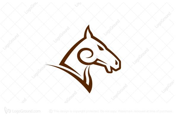 600x400 Logo For Sale Horse Face Logo, Horse, Vector, Heraldry, Head
