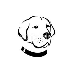 240x240 Dogs Face Silhouette Logo Template Silhouette