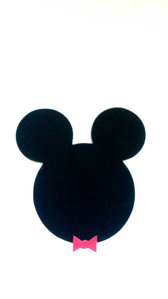 570x1013 Mickey Mouse Silhouette Face Paper Die Cuts. Scrapbook Supplies